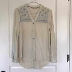 Holding horses button down chambray top